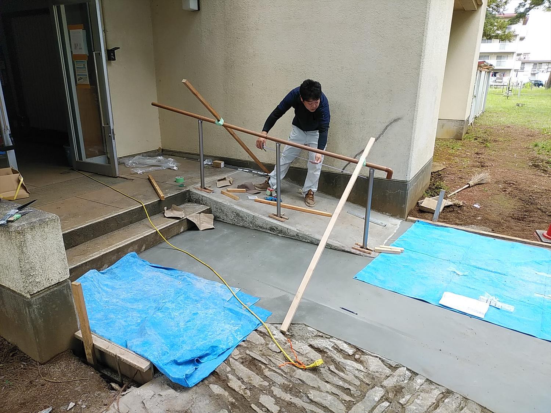 階段スロープ化・手すり取付